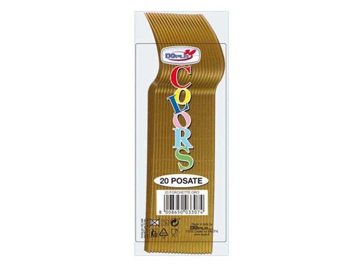 Immagine di Forchette Oro 20 pezzi