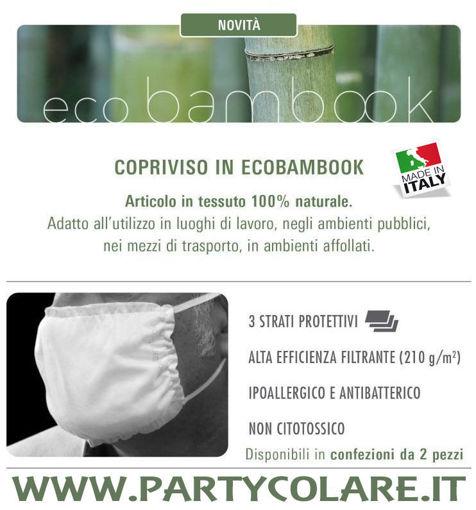Immagine di 2 Mascherine Copriviso Ecobambook in tessuto 100% Naturale