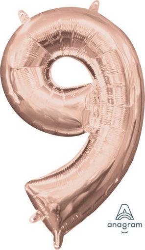 Palloncino Mylar 40 cm Rosa Antico Numero 9