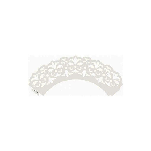 Immagine di Fascia in Carta Bianca per Decorazioni Cupcake  12 pezzi