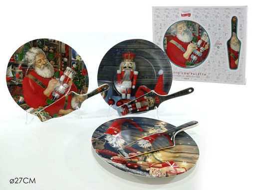 Immagine di Set Natale Piatto da 27 cm + Paletta in confezione regalo