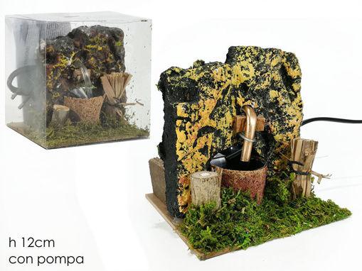 Immagine di Ambientazione Presepe Fontana da 12 cm con pompa elettrica