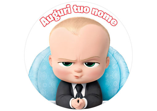 Immagine di Cialda per Torta in Ostia o Zucchero -Baby Boss (babyboss004)