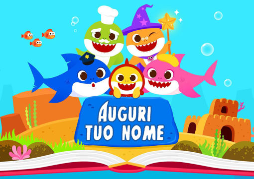 Immagine di Cialda per Torta in Ostia o Zucchero - Baby Shark (shark003)