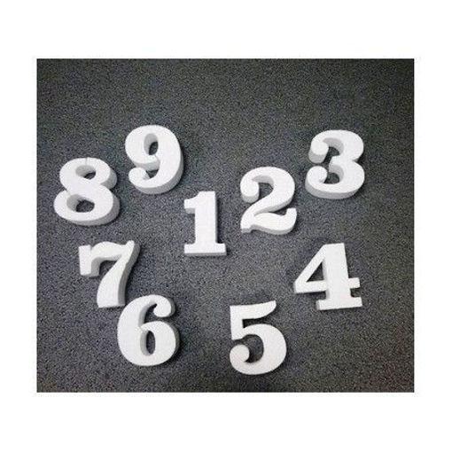 Immagine di Numero in polistirolo  altezza 15 cm
