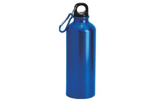 Immagine di Borraccia in alluminio Blu da 500 ml con moschettone