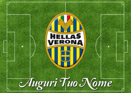 Immagine di Cialda per Torta in Ostia o Zucchero - Campo Calcio Hellas Verona (campo009)