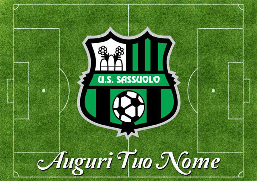Immagine di Cialda per Torta in Ostia o Zucchero - Campo Calcio Sassuolo (campo011)