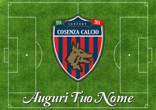 Immagine di Cialda per Torta in Ostia o Zucchero - Campo Calcio Cosenza (campo015)