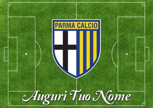 Immagine di Cialda per Torta in Ostia o Zucchero - Campo Calcio Parma (campo016)