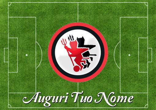 Immagine di Cialda per Torta in Ostia o Zucchero - Campo Calcio Foggia (campo019)