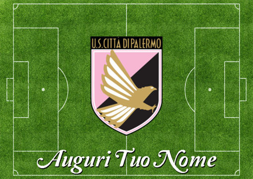 Immagine di Cialda per Torta in Ostia o Zucchero - Campo Calcio Palermo (campo021)