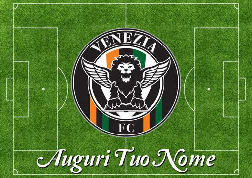 Immagine di Cialda per Torta in Ostia o Zucchero - Campo Calcio Venezia (campo022)