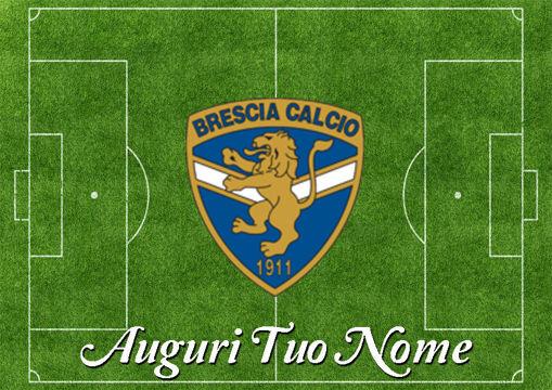 Immagine di Cialda per Torta in Ostia o Zucchero - Campo Calcio Brescia (campo026)