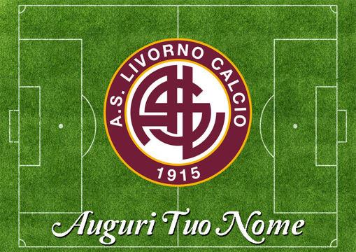 Immagine di Cialda per Torta in Ostia o Zucchero - Campo Calcio Livorno (campo027)