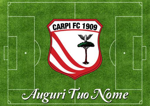 Immagine di Cialda per Torta in Ostia o Zucchero - Campo Calcio Carpi (campo029)