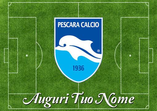 Immagine di Cialda per Torta in Ostia o Zucchero - Campo Calcio Pescara (campo030)