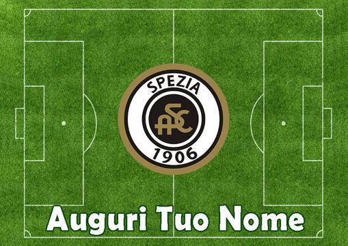 Immagine di Cialda per Torta in Ostia o Zucchero - Campo Calcio Spezia (campo032)