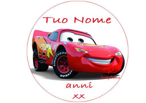 Immagine di Cialda per Torta in Ostia o Zucchero - Cars Motori Ruggenti (cars)