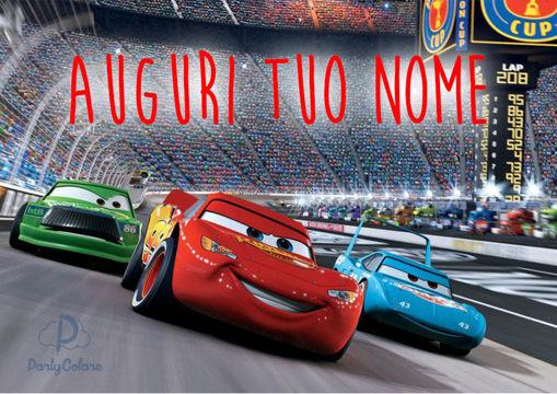 Immagine di Cialda per Torta in Ostia o Zucchero - Cars Motori Ruggenti (cars001)