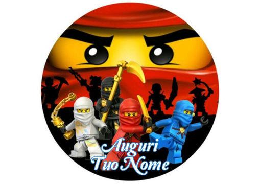 Immagine di Cialda per Torta in Ostia o Zucchero - Lego Ninjago (lego001)