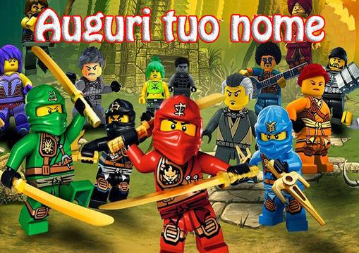 Immagine di Cialda per Torta in Ostia o Zucchero - Lego Ninjago (lego006)