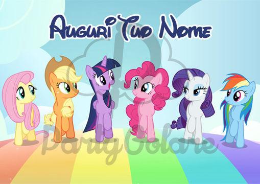 Immagine di Cialda per Torta in Ostia o Zucchero - My Little Pony (little001)