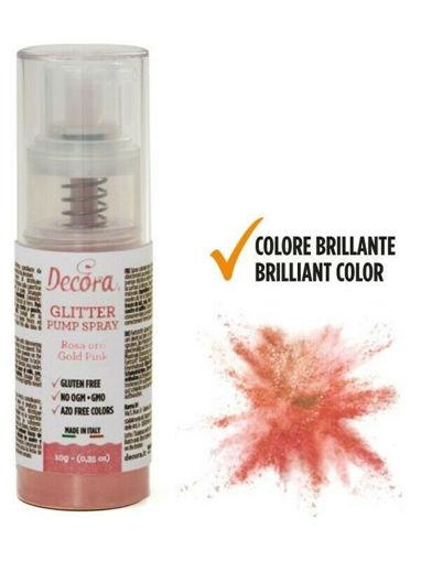 Immagine di Spray Colorante Pump Glitterato Rosa Gold 10 gr