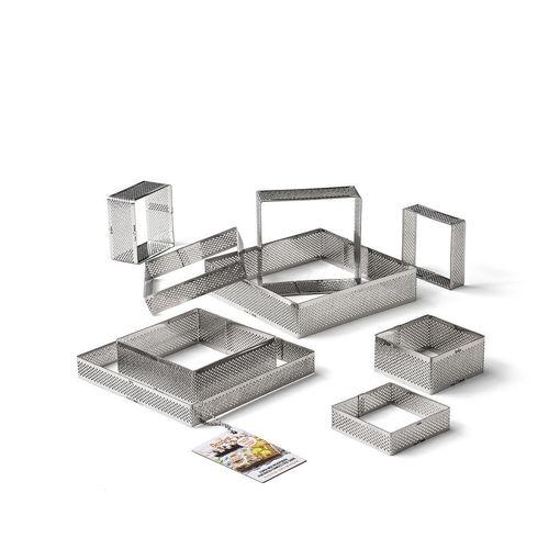 Immagine di Anello Microforato in acciaio inox quadrato 15x15 cm altezza 3,5 cm
