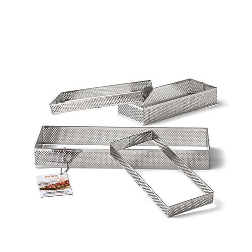 Immagine di Anello Microforato in acciaio inox rettangolare 10x29 cm altezza 3,5 cm