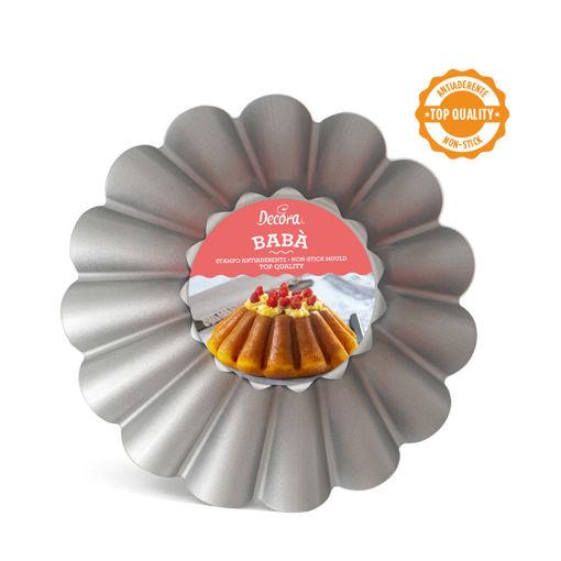 Immagine di Stampo Antiaderente Babà o Budino Grande diametro 24 cm altezza 8 cm