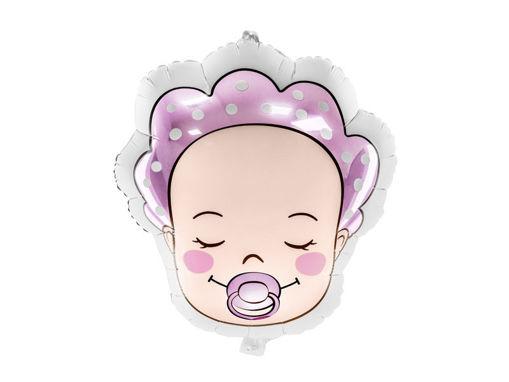 Immagine di Palloncino Mylar Viso di Bebè Bimba 40 x 45 cm