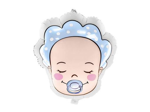Immagine di Palloncino Mylar Viso di Bebè Bimbo 40 x 45 cm