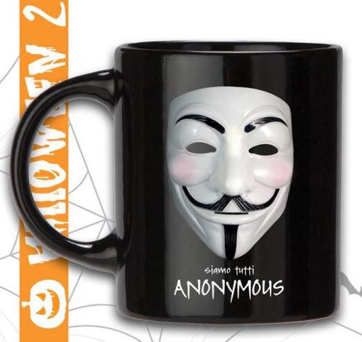 Immagine di Tazza in Ceramica Nera Anonymous in confezione regalo
