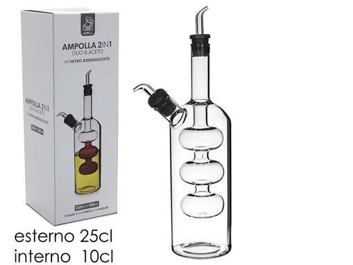 Immagine di Ampolla in Vetro 2 in 1 Olio e Aceto 250+100 ml