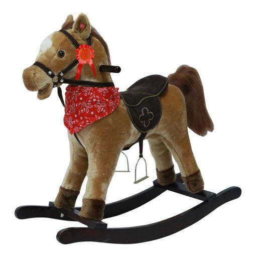 Immagine di Cavallo a Dondolo Marrone chiaro con suoni