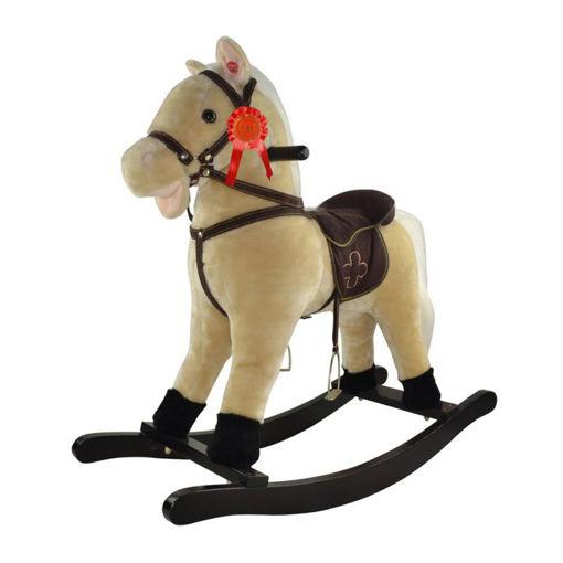 Immagine di Cavallo a Dondolo Beige con suoni