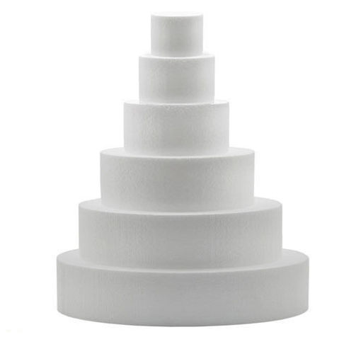 Immagine di Base per torta in Polistirolo Tondo altezza 5 cm