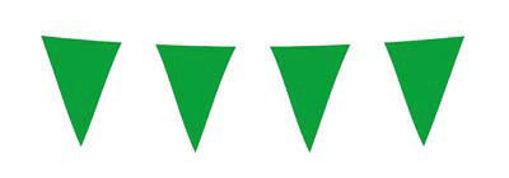 Immagine di Festone Bandierine in Plastica monocolore Verde Scuro 10 metri