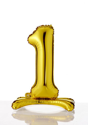 Immagine di Palloncino Mylar Oro autoportante 70 cm numero 1