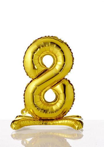 Immagine di Palloncino Mylar Oro autoportante 70 cm numero 8
