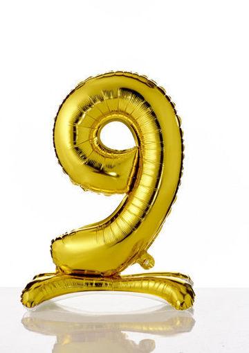 Immagine di Palloncino Mylar Oro autoportante 70 cm numero 9