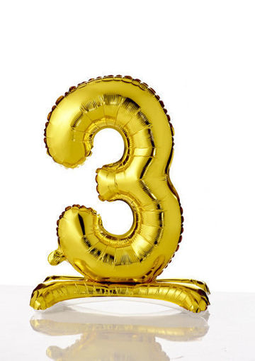 Immagine di Palloncino Mylar Oro autoportante 70 cm numero 3