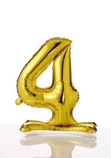 Immagine di Palloncino Mylar Oro autoportante 70 cm numero 4