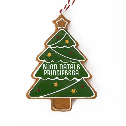 Immagine di Pendente Albero di Natale - Buon Natale Principessa