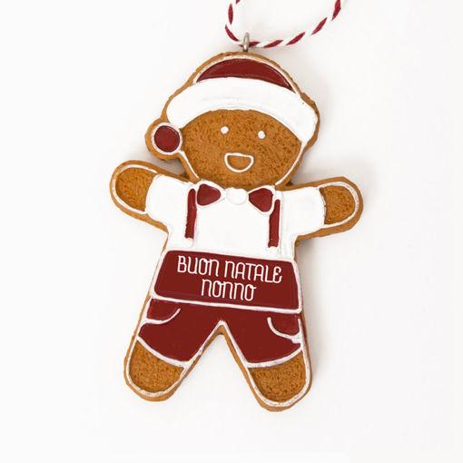 Immagine di Pendente Ginger Boy - Buon Natale Nonno