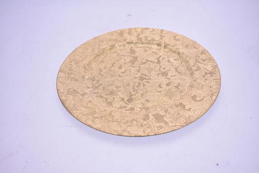 Immagine di Sottopiatto decorato diametro 33 cm Oro