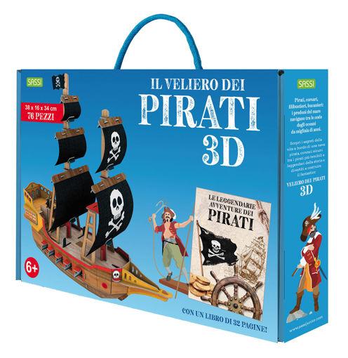 Immagine di Puzzle il Velerio 3D e Libro Le Leggendarie Avventure dei Pirati