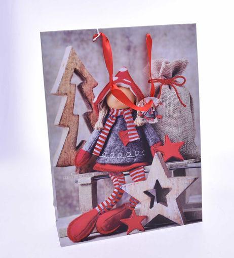 Immagine di Busta con decoro Natalizio 33x10.5x45 cm