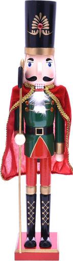 Immagine di Soldatino Natalizio Schiaccianoci Verde e Rosso 106 cm